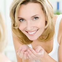 woman washing skin