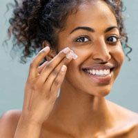 skincare product application